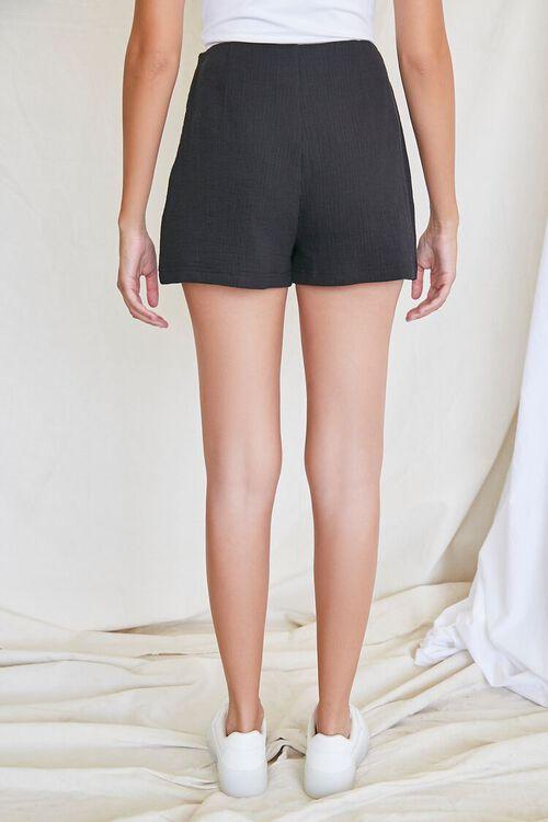 BLACK Textured Cotton Skort, image 4