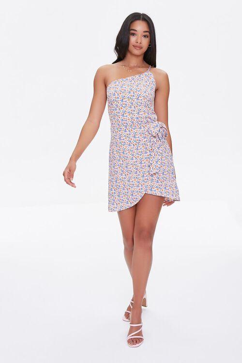 Floral Print One-Shoulder Dress, image 4