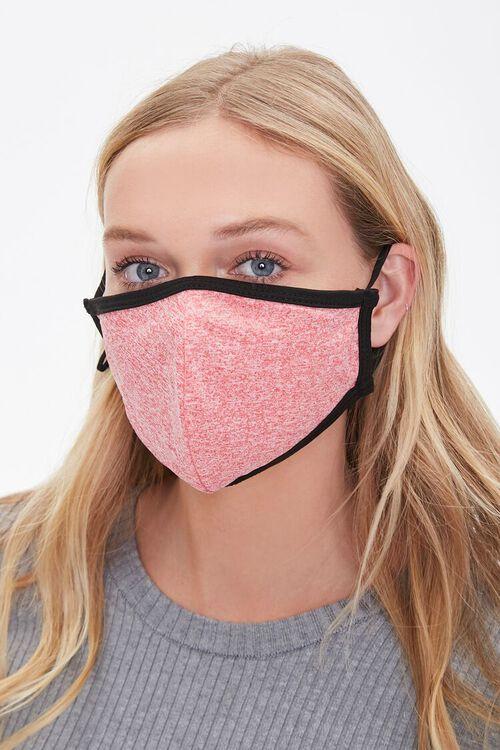 RED/MULTI Heathered Face Mask Set, image 3