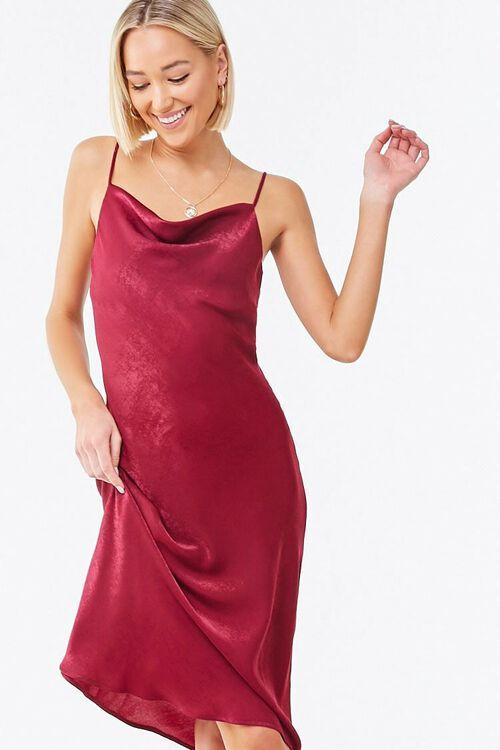 Cowl Neck Slip Dress, image 1