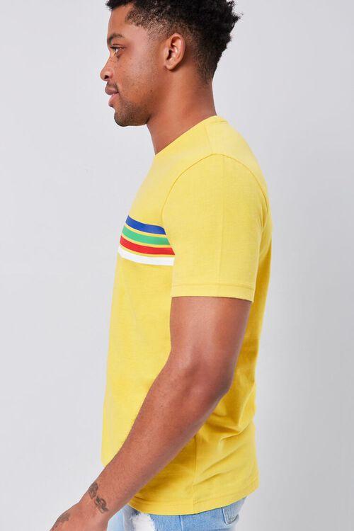Rainbow Striped-Trim Crew Neck Tee, image 2