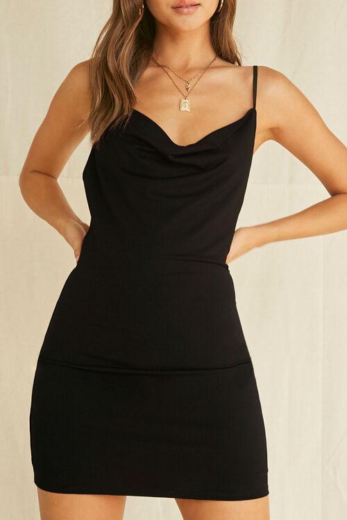 Cowl Neck Mini Bodycon Dress, image 5