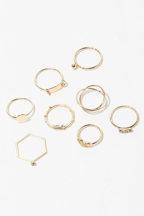 Assorted Midi & Regular Rings Set, image 2