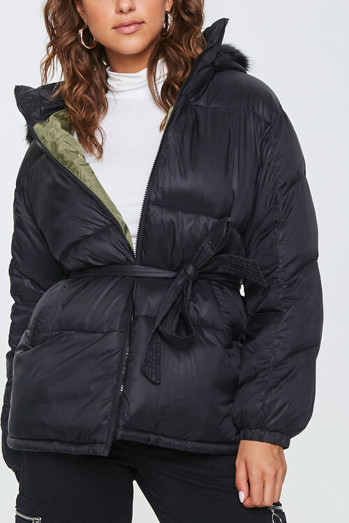 Faux Fur-Trim Puffer Jacket, image 4