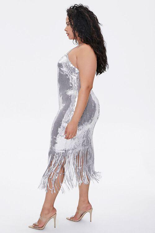 Plus Size Sequin Fringe Cami Dress, image 2