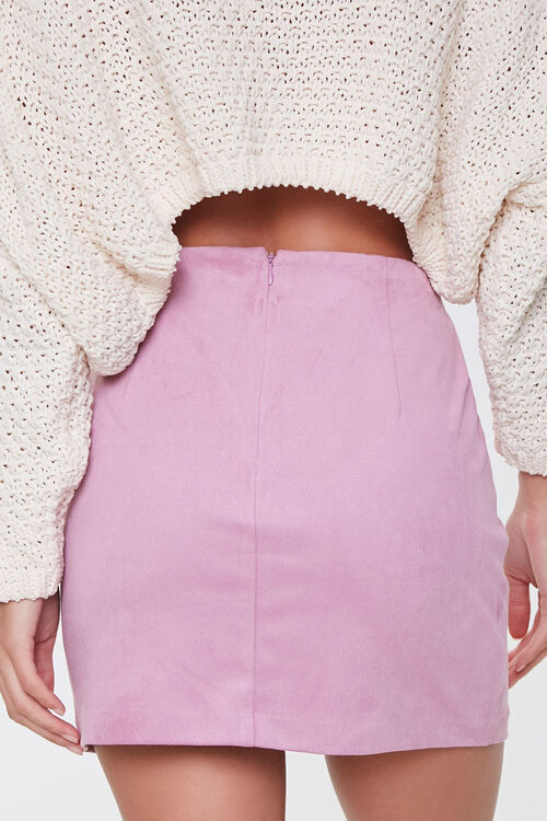 Faux Suede Mini Skirt, image 4