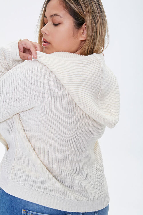 Plus Size Sweater-Knit Hoodie, image 3
