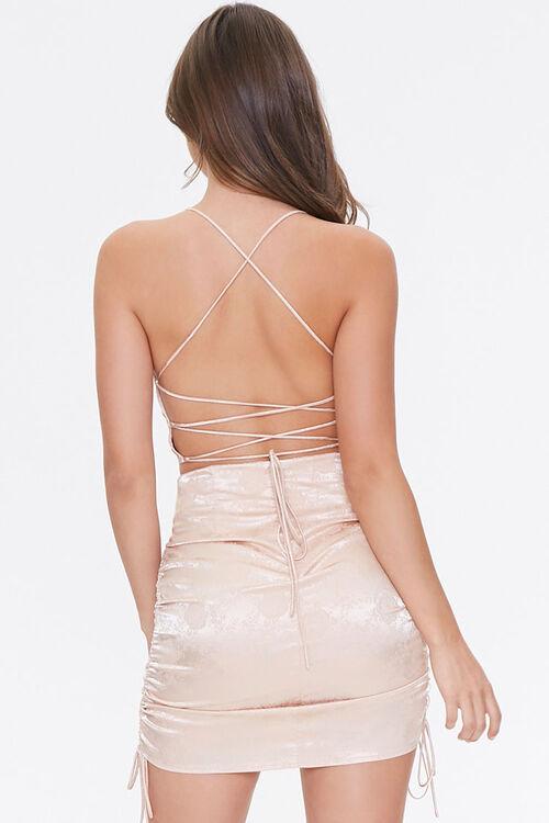 Satin Cropped Cami & Skirt Set, image 3