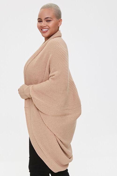 Plus Size Cocoon Cardigan Sweater, image 2