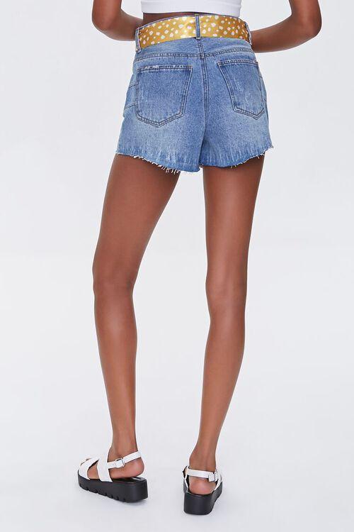 Spotted Belt Denim Shorts, image 4