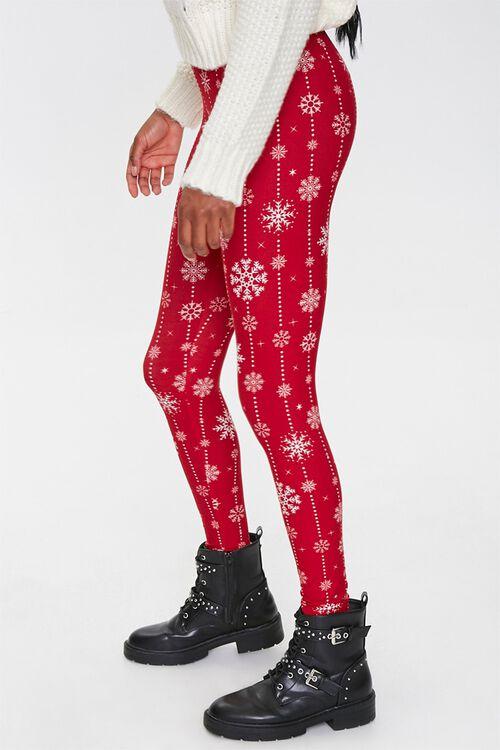 Snowflake Print Leggings, image 3