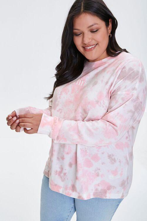 Plus Size Tie-Dye Wash Top, image 1
