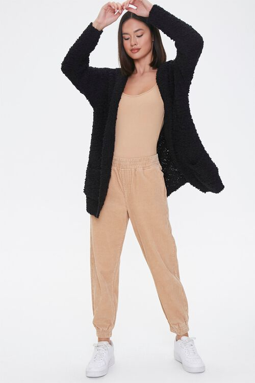 Textured Knit Open-Front Hoodie, image 4