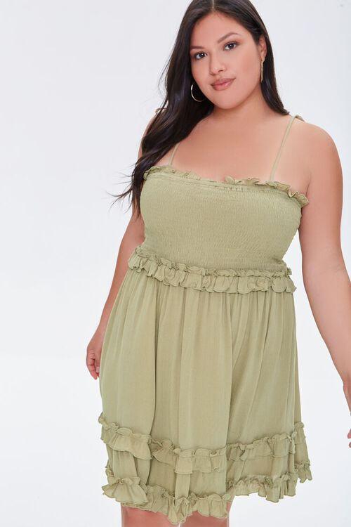 OLIVE Plus Size Ruffle-Trim Cami Dress, image 1