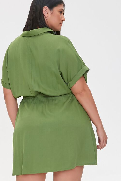 Plus Size Tie-Waist Shirt Dress, image 3