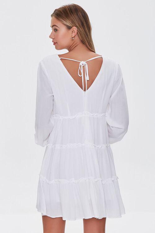IVORY Ruffle-Trim Mini Dress, image 3