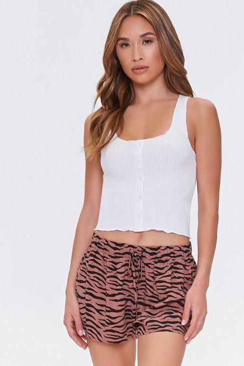 Tiger Striped Lounge Shorts, image 1