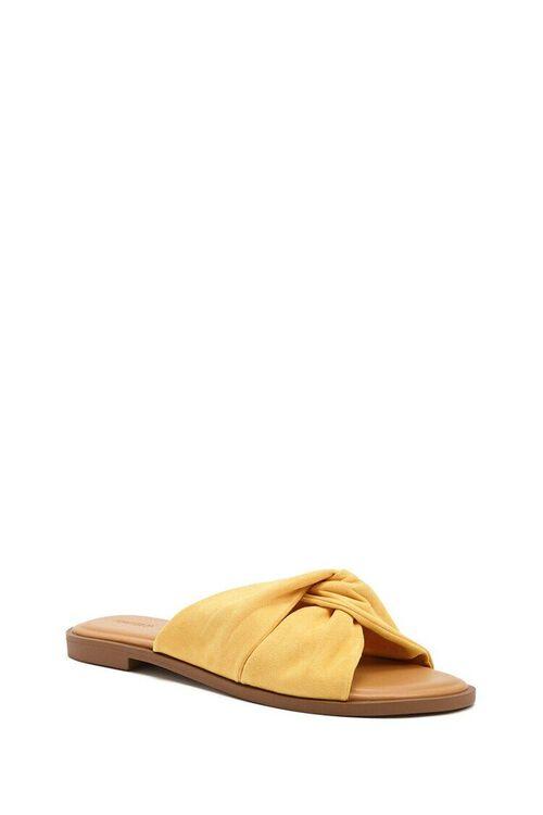 Faux Suede Crisscross Sandals, image 2