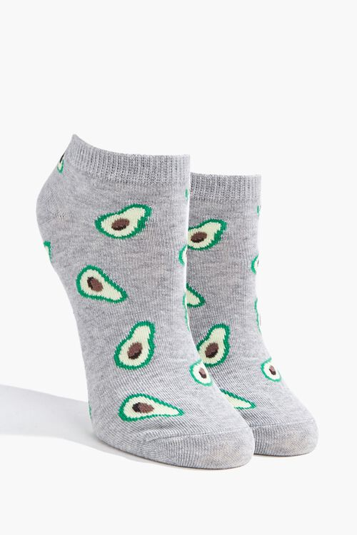Avocado Graphic Ankle Socks, image 1