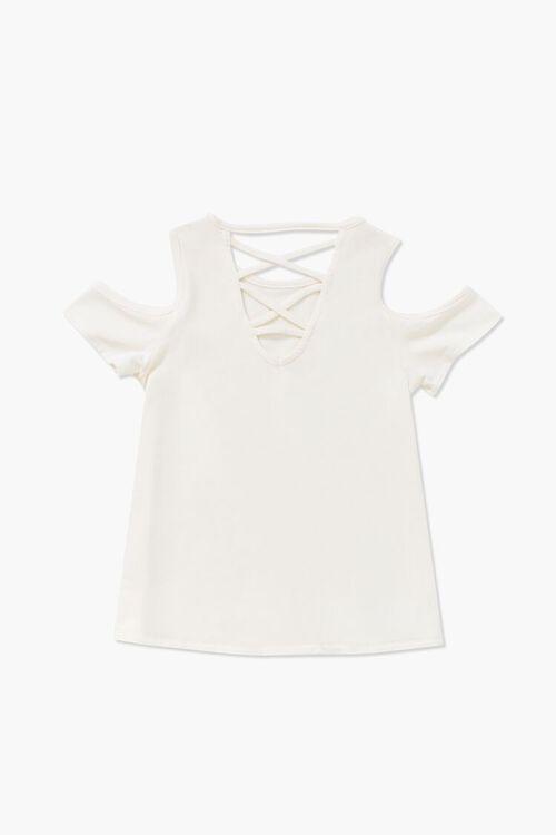 Girls Open-Shoulder Crisscross Top (Kids), image 2
