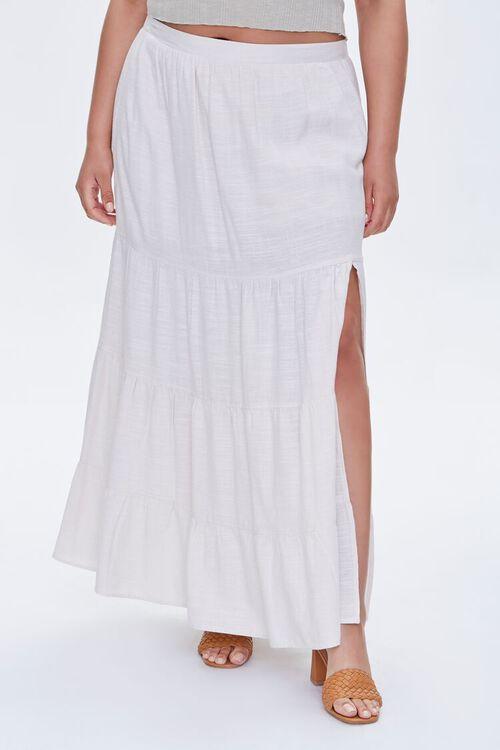 Plus Size Linen Maxi Skirt, image 2