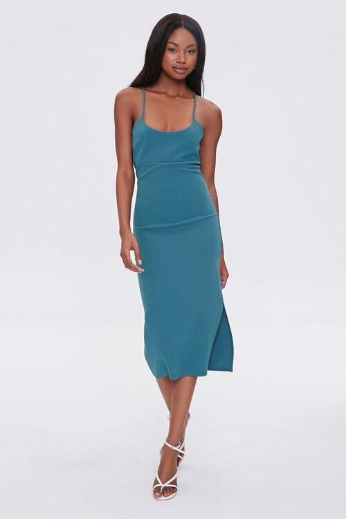 Lace-Up Midi Cami Dress, image 3