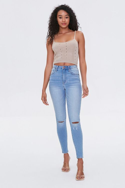 Sweater-Knit Cropped Cami, image 5