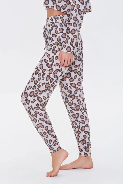 BEIGE/MULTI Leopard Print Lounge Pants, image 3