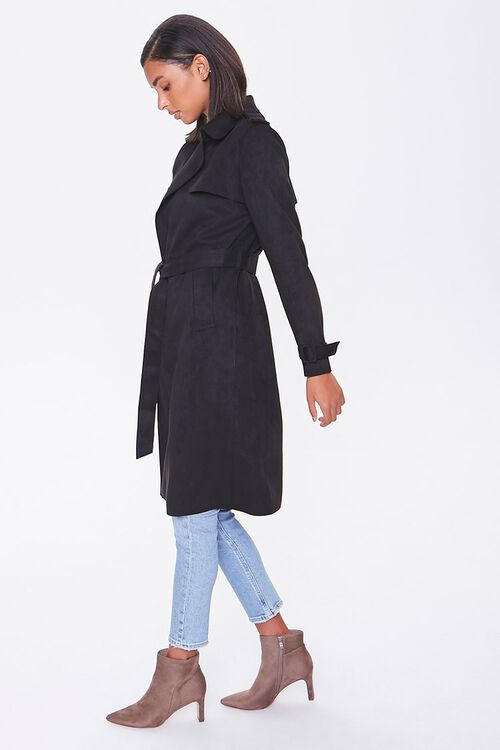 Faux Suede Duster Jacket, image 2
