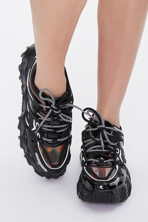 Semi-Iridescent Low-Top Sneakers, image 4