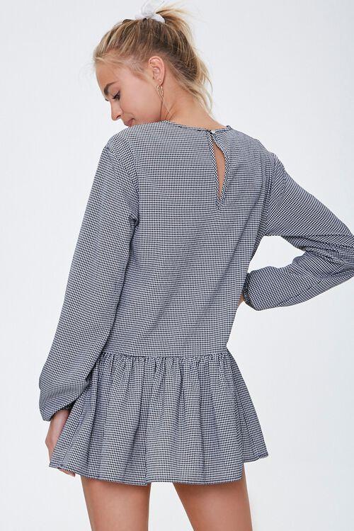 Gingham Peasant Mini Dress, image 3