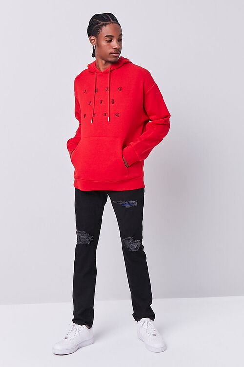 RED/BLACK Apocalyptic Embroidered Graphic Hoodie, image 4