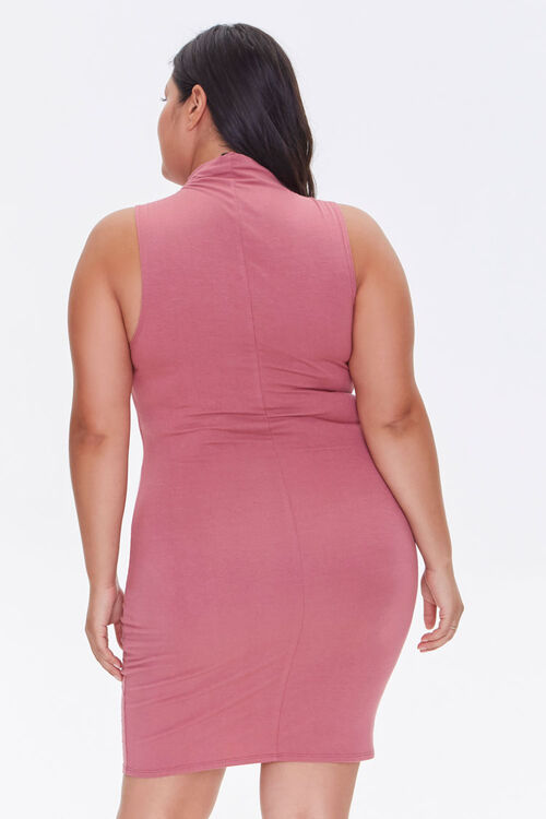 Plus Size Sleeveless Mini Dress, image 3
