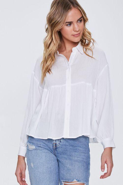 IVORY Flounce Gauze Shirt, image 1