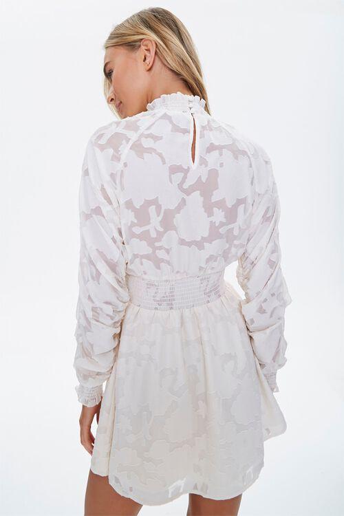 Abstract Smocked-Trim Mini Dress, image 3
