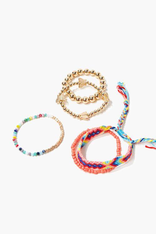 Butterfly Charm Stretch Bracelet Set, image 1