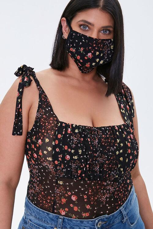 Plus Size Bodysuit & Face Mask Set, image 1