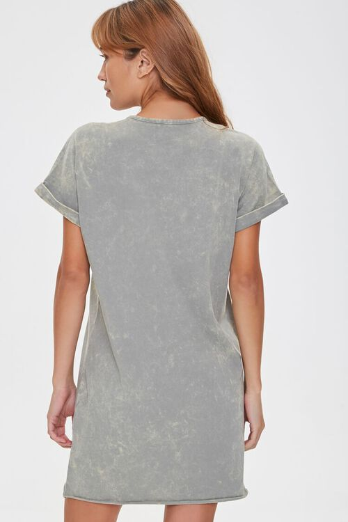 Oil Wash T-Shirt Dress, image 3