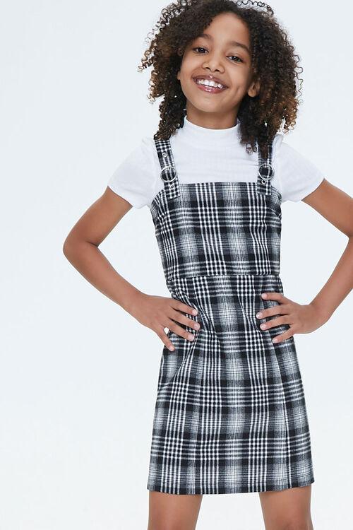 Girls Plaid Pinafore Dress (Kids), image 4