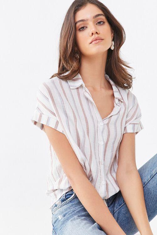 Striped Drawstring Shirt, image 1