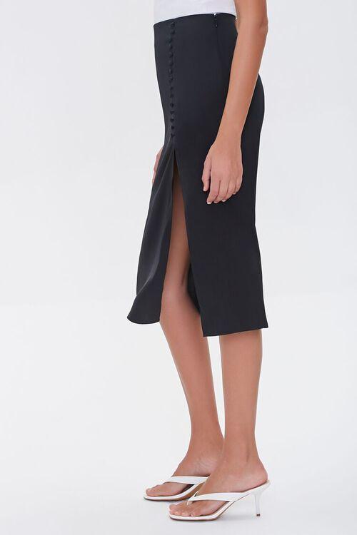 Button-Front Slit Skirt, image 3