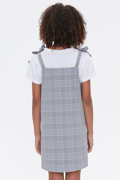 Girls Pinafore Plaid Dress (Kids), image 3