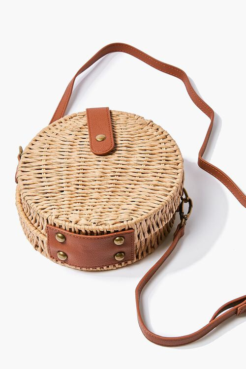 Basket-Woven Crossbody Bag, image 3