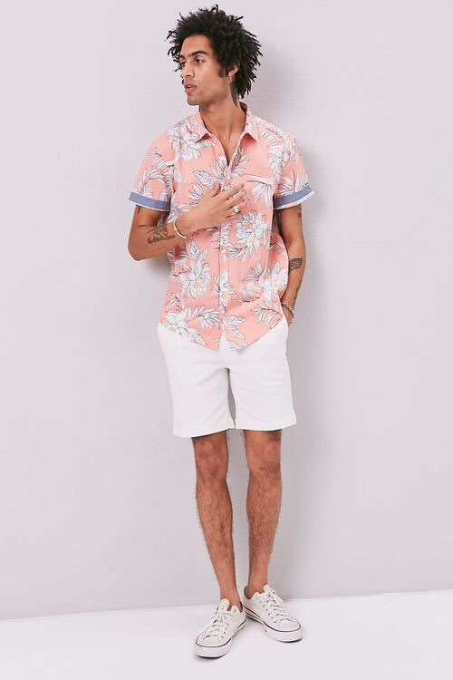 Tropical Print Fitted Shirt, image 4