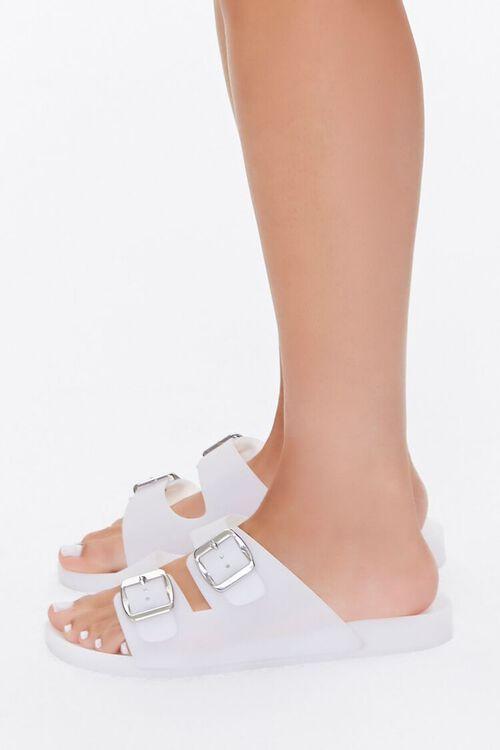 WHITE Buckled Flatform Sandals, image 3