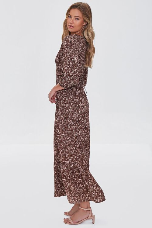 BROWN/MULTI Floral Print Maxi Dress, image 2
