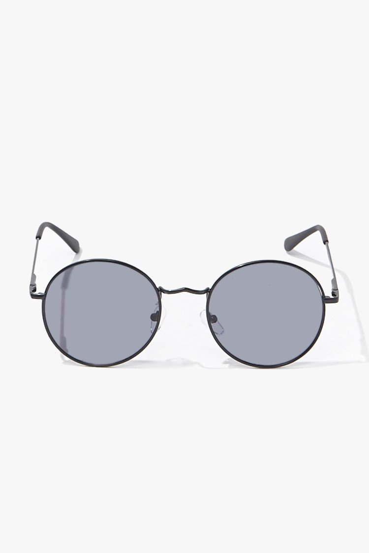 Forever 21 coupon: Men Round Sunglasses in Black