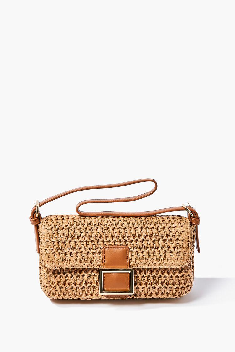 Vintage Handbags, Purses, Bags *New* Faux Straw Shoulder Bag in Tan $19.99 AT vintagedancer.com