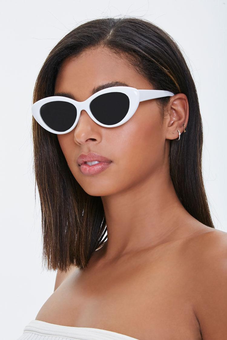1960s Sunglasses | 70s Sunglasses, 70s Glasses Marilyn Monroe Cat-Eye Sunglasses in WhiteSilver $9.99 AT vintagedancer.com