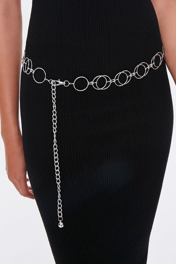 Vintage Wide Belts, Cinch Belts, Skinny 50s Belts O-Ring Chain Hip Belt in Silver $12.99 AT vintagedancer.com
